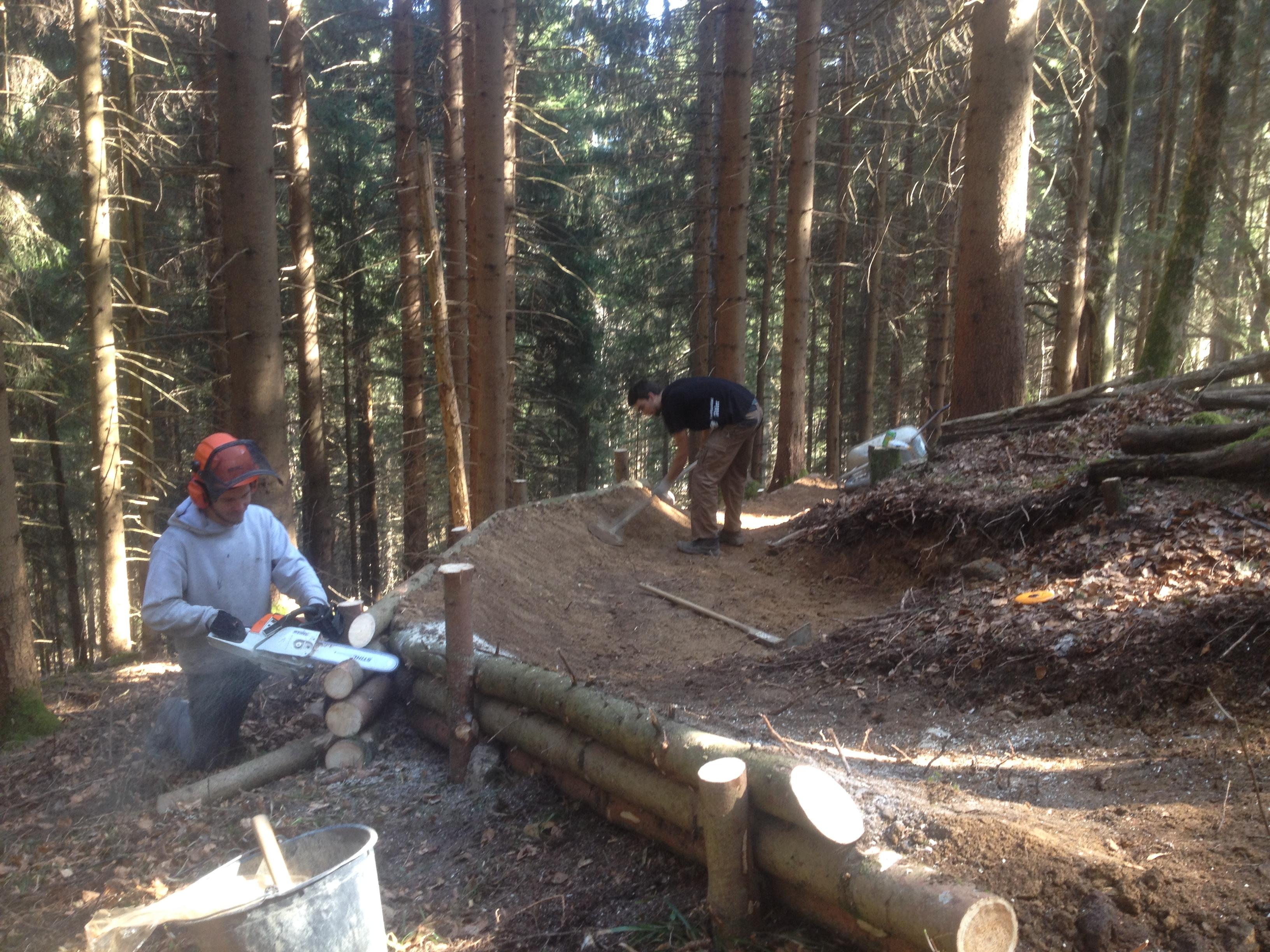 Unser Downhill im Bau